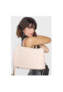 Bolsa Jorge Bischoff Logo Off-White/Bege