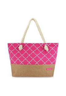 Bolsa De Praia Jacki Design - Pink