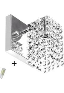 Arandela De Cristal Legitimo Clearcast Com Lã¢Mpadas 6000K (B - Prata - Dafiti