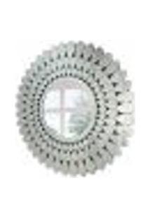 Espelho Decorativo Ballo 100X100 Cm Prata
