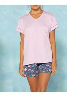 Pijama Curto Petúnia Pzama (50017) 100% Algodão