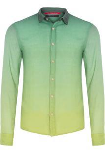 Camisa Masculina Degradê Mykonos - Verde