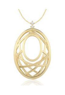 Pingente Ouro Amarelo E Diamantes 29,8 Mm