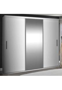 Guarda-Roupa Casal 3 Portas De Correr Com 1 Espelho 100% Mdf 1975E1 Branco - Foscarini
