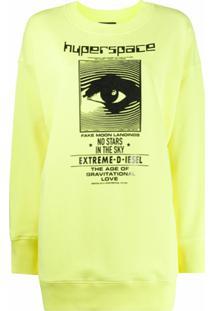 Diesel Suéter Mangas Longas Com Logo - Amarelo
