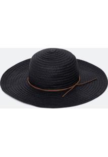 Chapéu De Palha Liso Com Cordão