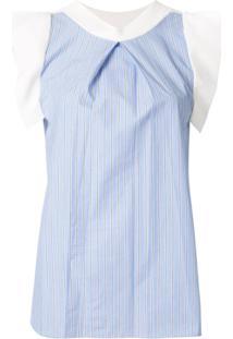 Loveless Blusa Listrada De Tricô - Azul