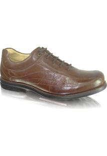 Sapato Anatomic Gel 454560 Couro Troy - Masculino-Marrom