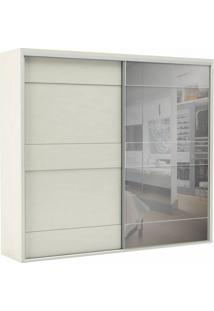 Guarda-Roupa Casal Com Espelho Reims 2 Pt 4 Gv Off White
