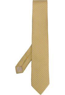 Salvatore Ferragamo Gravata Com Padronagem - Amarelo
