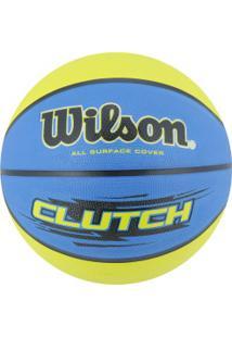 Bola De Basquete Wilson Clutch 7 - Azul/Verde Cla
