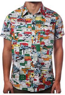 Camisa Camaleão Urbano Favela Vermelha