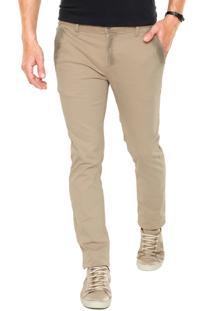 Calça Sarja Calvin Klein Jeans Chino Dirty Bege
