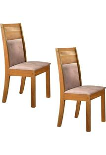 Conjunto Com 2 Cadeiras Ravena Ypê E Pena