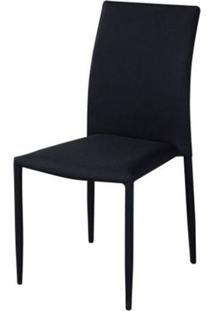 Cadeira Amanda 6606 Tecido Preto - 32879 - Sun House