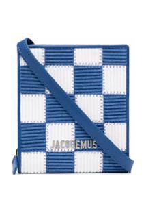 Jacquemus Bolsa Tiracolo Com Estampa Xadrez - Azul