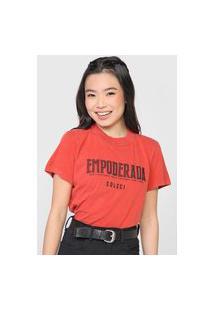Camiseta Colcci Empoderada Vermelha