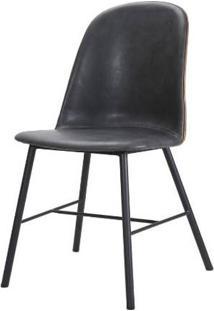 Cadeira Elena Courino Cinza Escuro Base Preto 83Cm - 62854 - Sun House