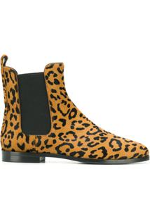 Unützer Ankle Boot Animal Print - Marrom