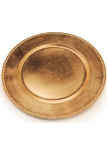 Sousplat Natalino Decoração Mesa Estampa Cor Dourado Ouro