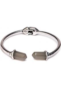 Bracelete Metal Stone
