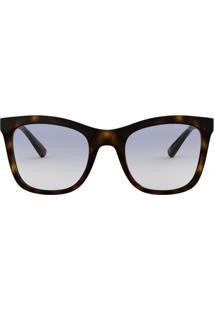 4cc25ca1416a4 ... Óculos Armani Exchange Ax4082Sl 803719 Tartaruga Lente Transparente Azul  Degradê Tam 52