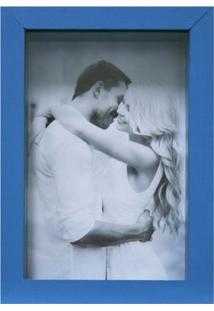 Porta-Retrato Caixa Liso Azul 18 X 13 Cm