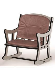 Cadeira Pet Balanço Light Off White Com Almofadas Rosé 52Cm - 62303 - Sun House