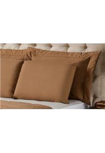 Fronha Para Travesseiro Plumasul Matelassê Soft Touch Em Poliéster/ Microfibra 50 X 90 Cm - Café
