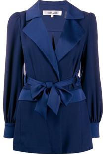 Diane Von Furstenberg Jaqueta Stassie De Cetim - Azul