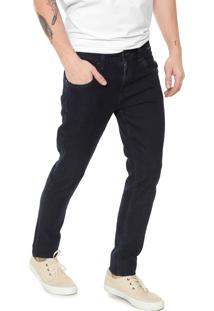 Calça Jeans Hurley Reta Pespontos Azul
