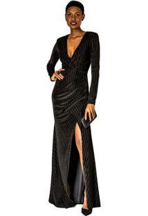 Vestido Veludo Canelado Forum