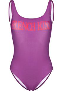 Alberta Ferretti Graphic One-Piece - Roxo