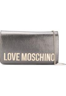 Love Moschino Charm Cross Body Bag - Prateado