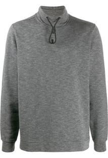 Stone Island Suéter Com Ajuste Por Cordão Na Gola - Cinza