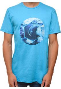 Camiseta Kevingston Movement Estampada Manga Curta Turquesa 903 100% Algodao
