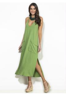 Vestido Midi De Linho Verde