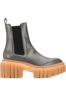 Stella Mccartney Ridged-Platform Ankle Boots - Verde