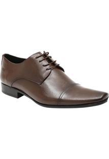 Sapato Social Slim Em Couro Com Recortes Aplicados - Marcns