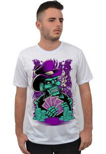 Camiseta Ramavi Raglan Skull Player Branca