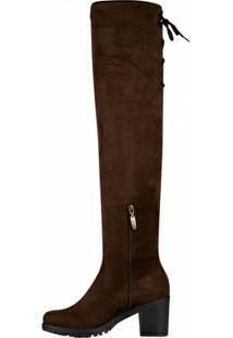 Bota Barth Shoes Cano Alto Dora Feminina - Feminino-Marrom Escuro