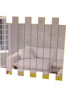 Espelheira 4055 Luxo Amarelo Brilho Móveis Jb Bechara