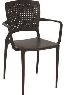 Cadeira Tramontina 92049109 Safira Suma Com Braços Marrom