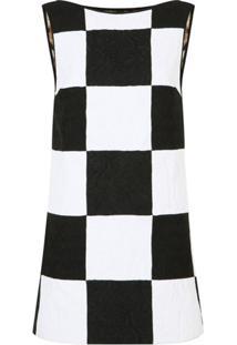 Dolce & Gabbana Vestido Sem Mangas De Jacquard Com Patchwork - Branco