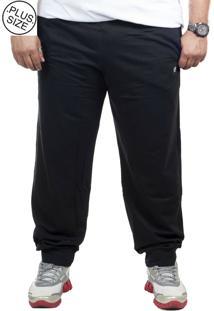 Calça Moletinho Plus Size Bigshirts - Preta