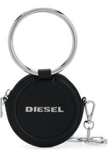 Diesel Carteira Redonda Com Corrente - Preto