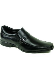 Sapato Social Rafarillo Dallas Preto Com Fivela - Masculino-Preto