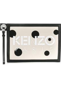 Kenzo Clutch Com Logo - Neutro