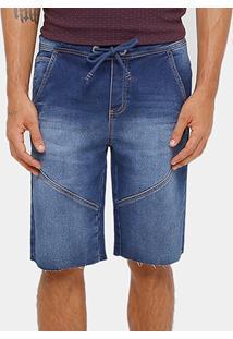 Bermuda Jeans Triton Jogging Recorte Masculina - Masculino
