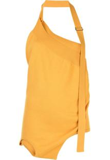Monse Blusa Frente Única Assimétrica - Amarelo
